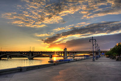 Tempe Town Lake Sunrise Art Print