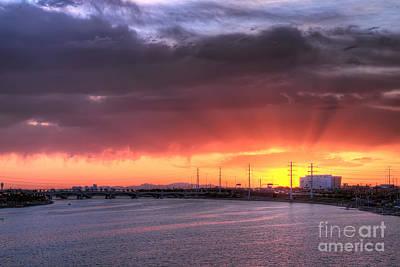 Photograph - Tempe Town Lake Sunset by Eddie Yerkish