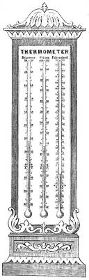 Temperature Scales, 1870 Print by Science Source