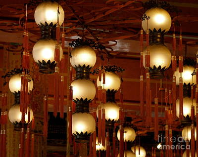 Photograph - Temple Lamps by Michael Canning