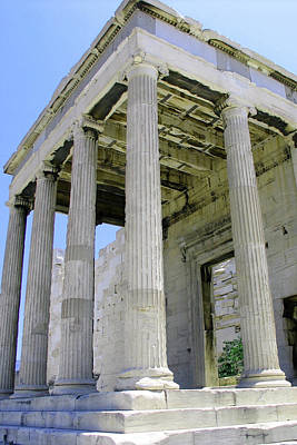 Photograph - Temple Of Athena Entrance by Nathaniel Price