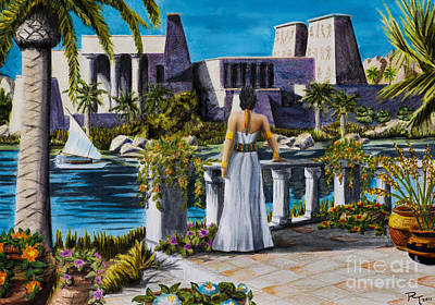 Temple Of Isus Original by Robert Thornton