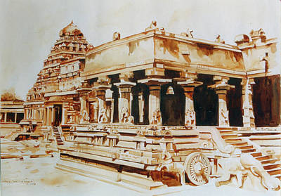 Tamilnadu Painting - Temple Of Tamilnadu India by Seni
