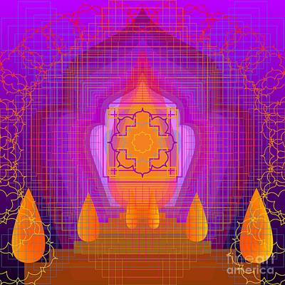 Digital Art - Temple Of The Inner Flame 2012 by Kathryn Strick
