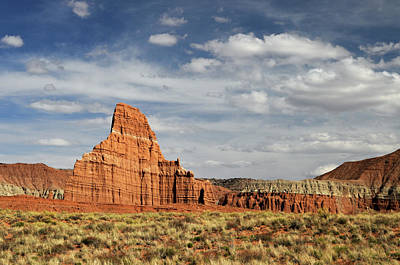 Cathedral Valley Photograph - Temple Of The Moon by David Hogan