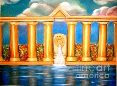 Painting - Temple Reflection by Jose Breaux