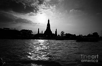 Art Print featuring the photograph Temple Silhouette by Thanh Tran