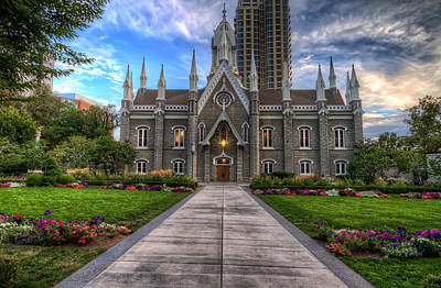 Photograph - Temple Square Assembly Hall by Brad Granger