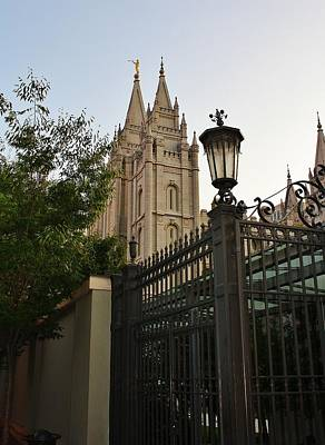 Photograph - Temple Square Grounds by Bruce Bley