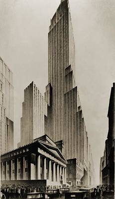 Temples Of Commerce, An Illustration Art Print by Everett