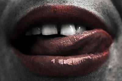 Photograph - Tempting Lips by Michael Mogensen