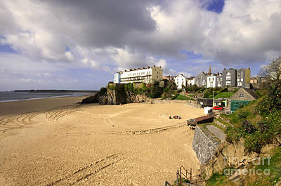Tenby Photograph - Tenby Castle Beach by Rob Hawkins