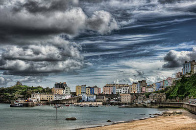 Photograph - Tenby Harbour 4 by Steve Purnell
