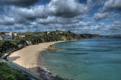 Photograph - Tenby North Beach Pembrokeshire  by Steve Purnell