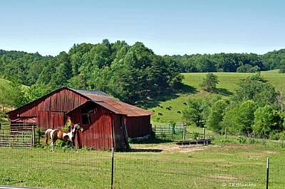 Photograph - Tennessee Barn 3 by Teresa Blanton