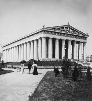 Photograph - Tennessee Centennial In Nashville - The Parthenon - C 1897 by International  Images