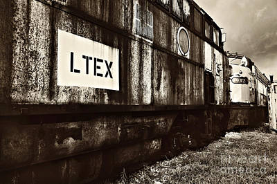 Photograph - Tennessee Central Museum Train Boxcars by Cheryl Davis