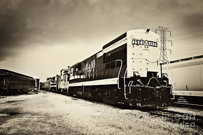 Photograph - Tennessee Central Museum Trains by Cheryl Davis
