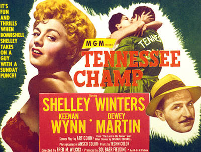 Fid Photograph - Tennessee Champ, Shelley Winters by Everett