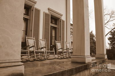 Tennessee Plantation Porch Art Print by Carol Groenen