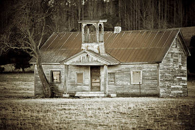Photograph - Tennessee Schoolhouse by Jeff Adkins
