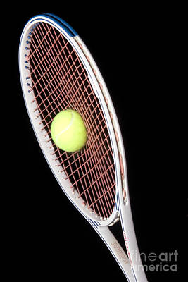 Stroboscopic Images Photograph - Tennis Ball And Racket by Ted Kinsman