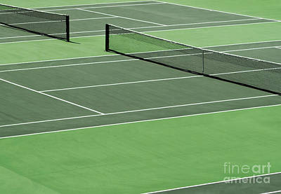 Tennis Court Art Print