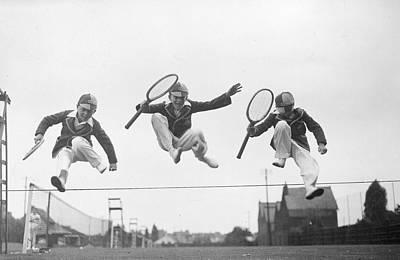 Tennis Leap Art Print by Douglas Miller