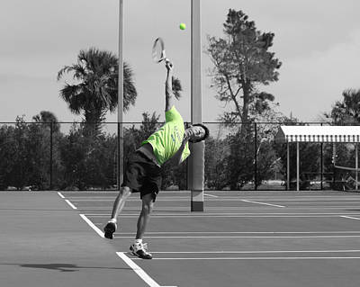 Photograph - Tennis Player Sc by Jeanne Andrews
