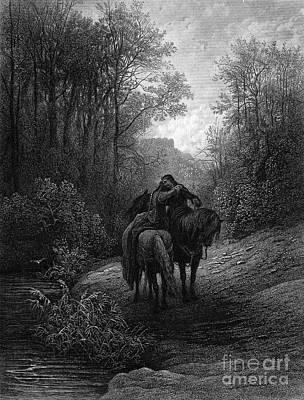 Tennyson: Guinevere Art Print by Granger