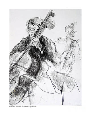 Drawing - Tenor Strings by Reza Sepahdari