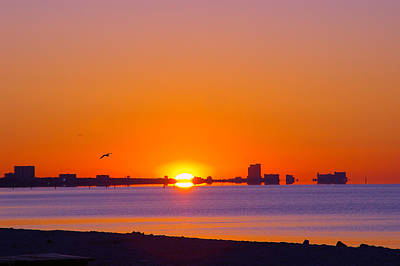 Art Print featuring the photograph Tequila Sunrise by Brian Wright