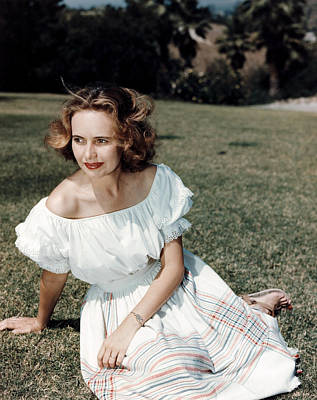Teresa Wright, Ca. Late 1950s Print by Everett