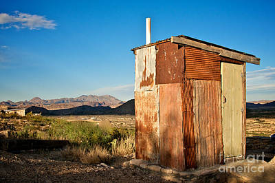 Photograph - Terlingua Out-house by Sherry Davis