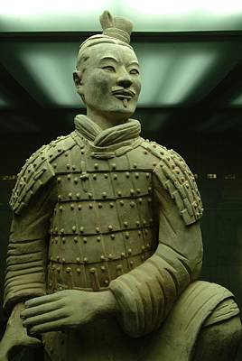 Terra Cotta Warrior Excavated At Qin Art Print by Richard Nowitz