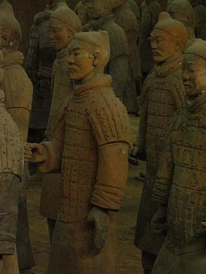 Terra Cotta Warriors Excavated At Qin Art Print by Richard Nowitz