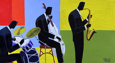 Painting - Terrace Jam Session by Darryl Daniels