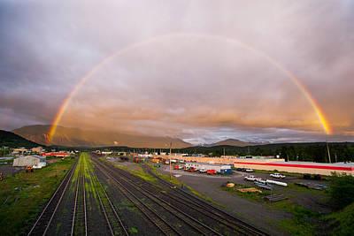 Full Rainbow Photograph - Terrace Rainbow by Brandon Broderick