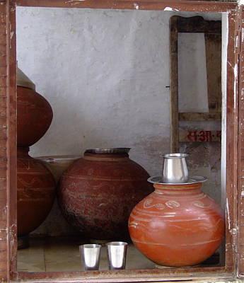 Jainism Wall Art - Photograph - Terracotta Pots by Photo by Judepics