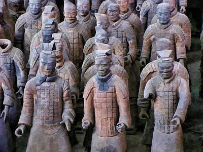 Ancient Photograph - Terracotta Warriors 2 by Helaine Cummins