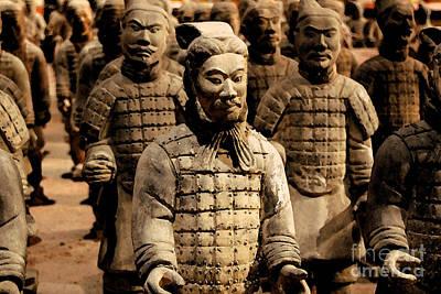 Digital Art - Terracotta Warriors China Pavilion Epcot Walt Disney World Prints Watercolor by Shawn O'Brien