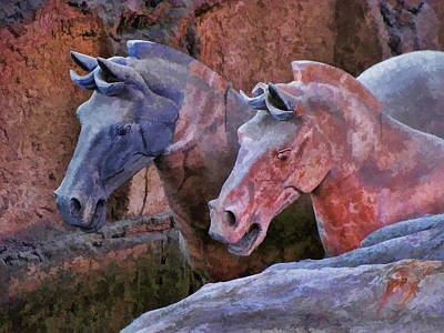 Terracotta Warriors' Horses 1 Art Print