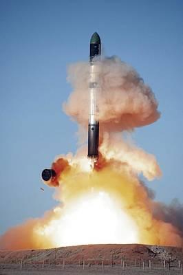 Flaming June Photograph - Terrasar-x Satellite Launch by Ria Novosti