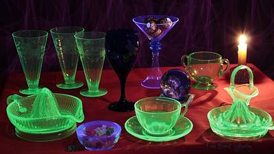 Vaseline Glass Photograph - Testing Glass With Blacklight by Frank Schmidt