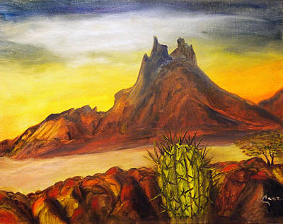Sonora Painting - Tetakawi San Carlos Sonora Mexico by Veronica Zimmerman