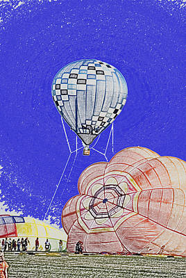 Tethered Hot Air Balloon Art Print by Thomas Woolworth