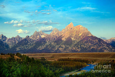 Photograph - Teton Range At Sunrise by Robert Bales
