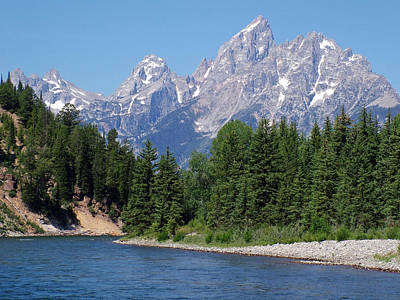 Photograph - Teton View From The Snake River by Ken Smith