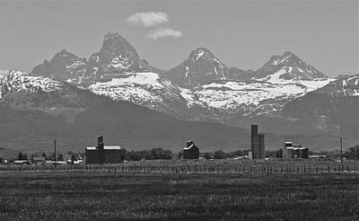 Photograph - Tetonia Grain Elevators by Eric Tressler