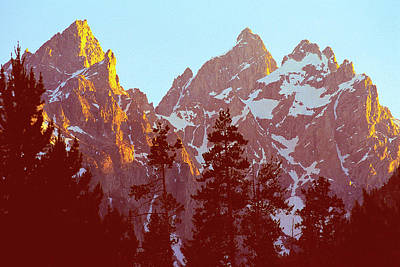 Photograph - Tetons At Sunset by Alan Lenk